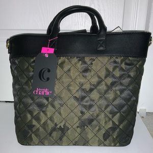 Charming Charlie Tote Bag Camouflage quilt w/Strap
